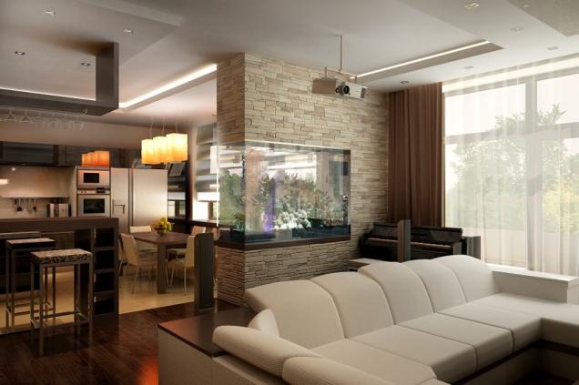 Фото современный интерьер зала