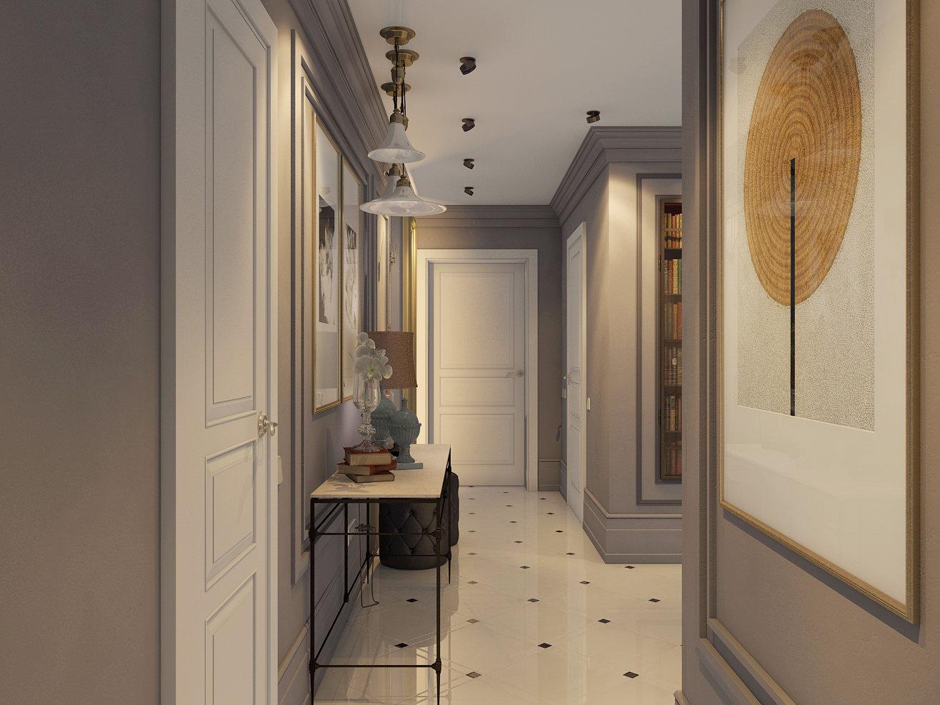 Короткий узкий коридор дизайн фото
