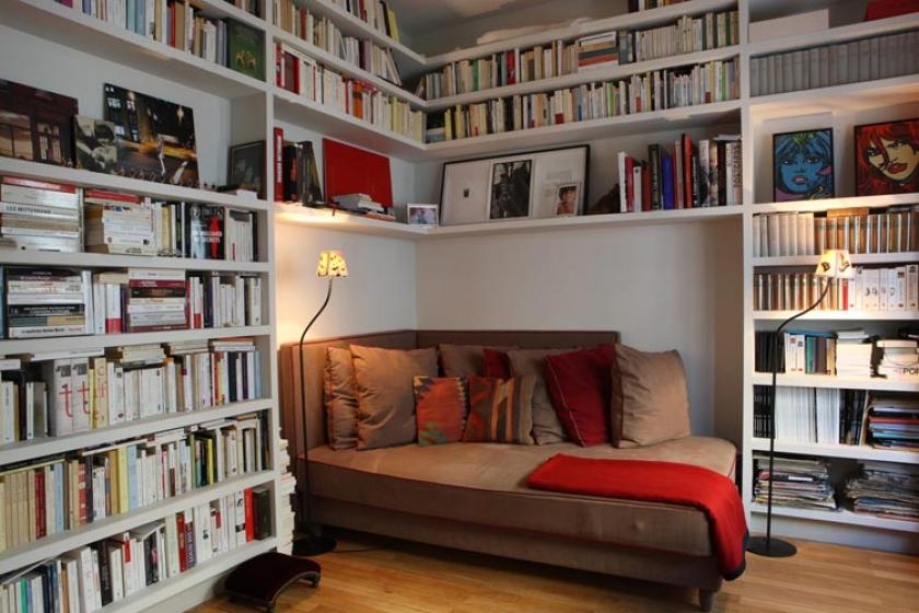 Библиотека домашняя фото интерьера