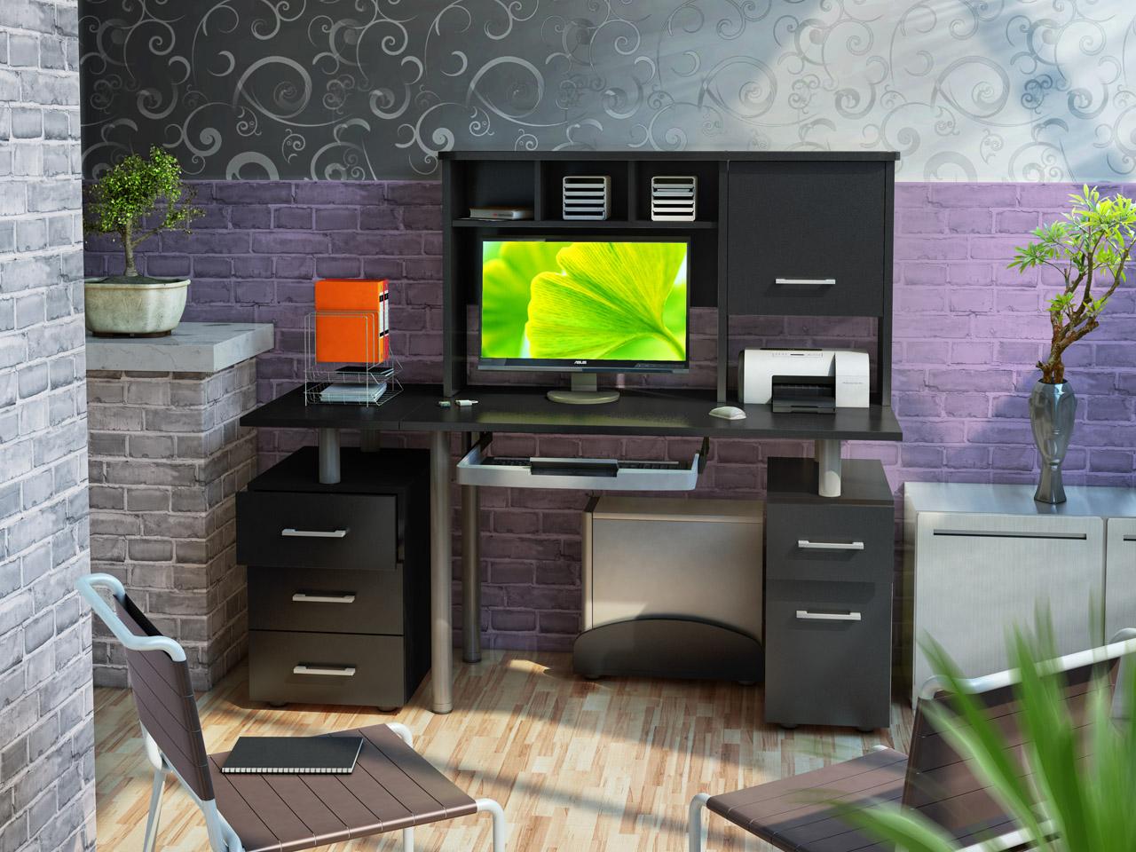 Компьютерный стол в интерьере - агентство недвижимости довер.