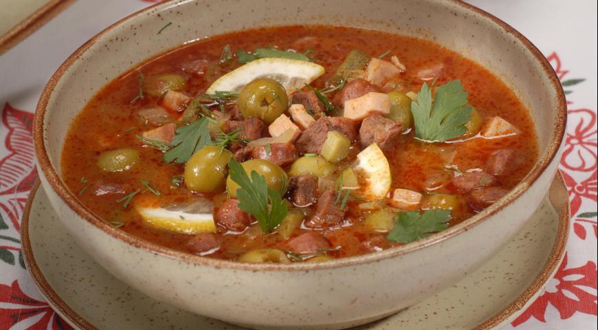 удалить рецепт супа солянки мясной сборной проявляется