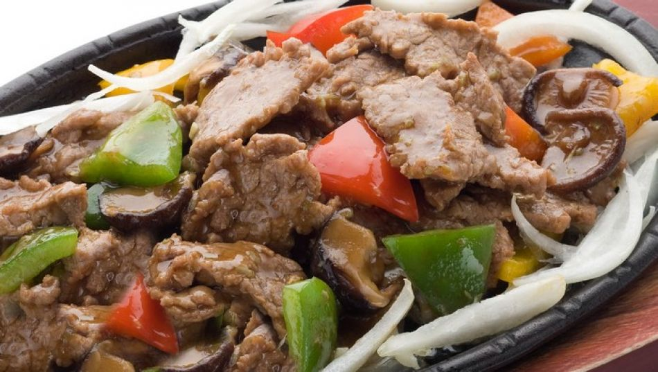 Рецепт горячая сковорода говядина с овощами