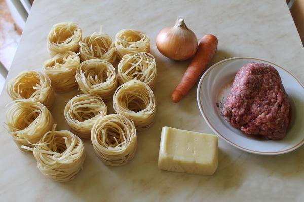 Макароны гнёзда рецепт с пошагово