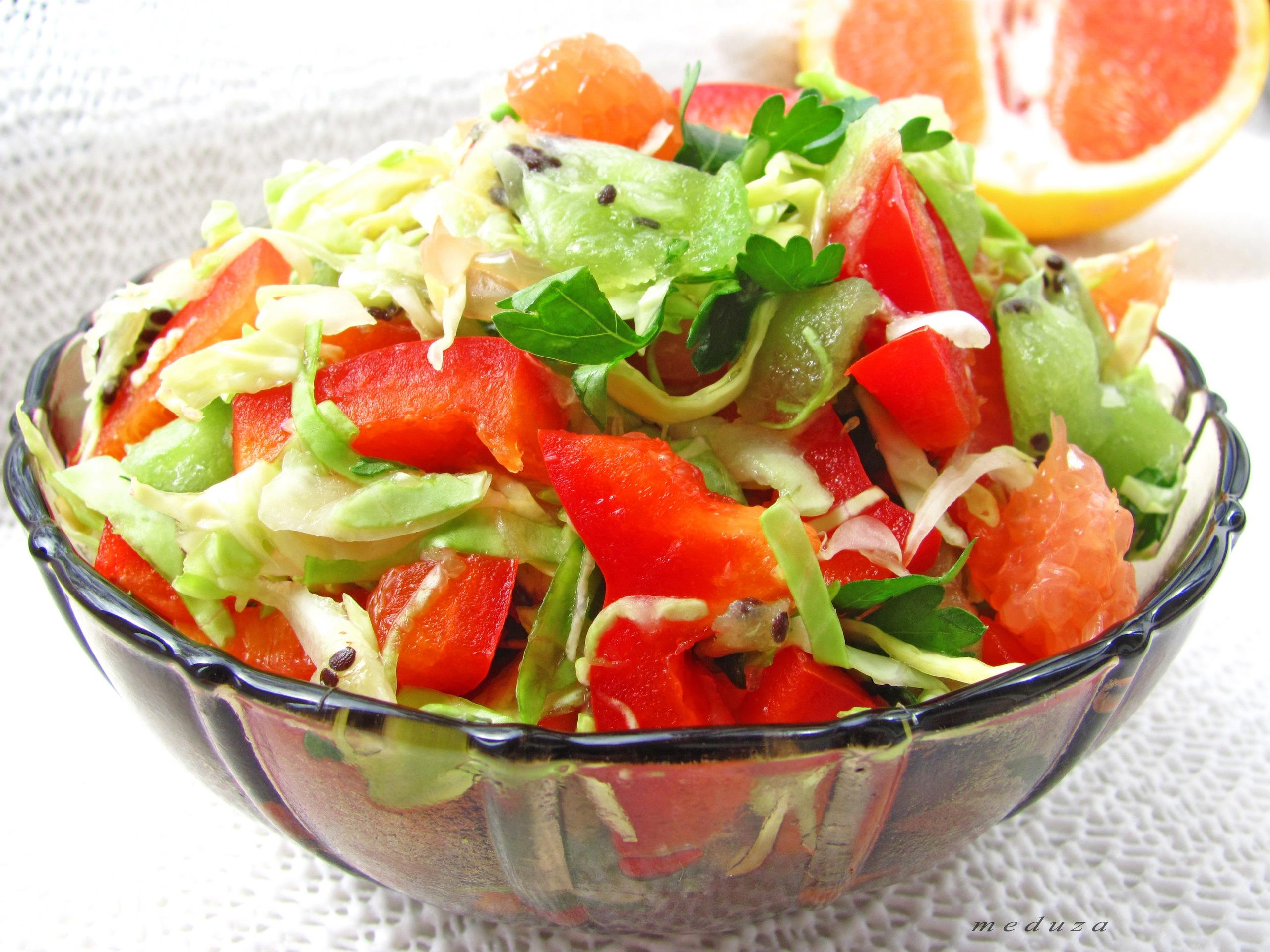 Овощной салат рецепт