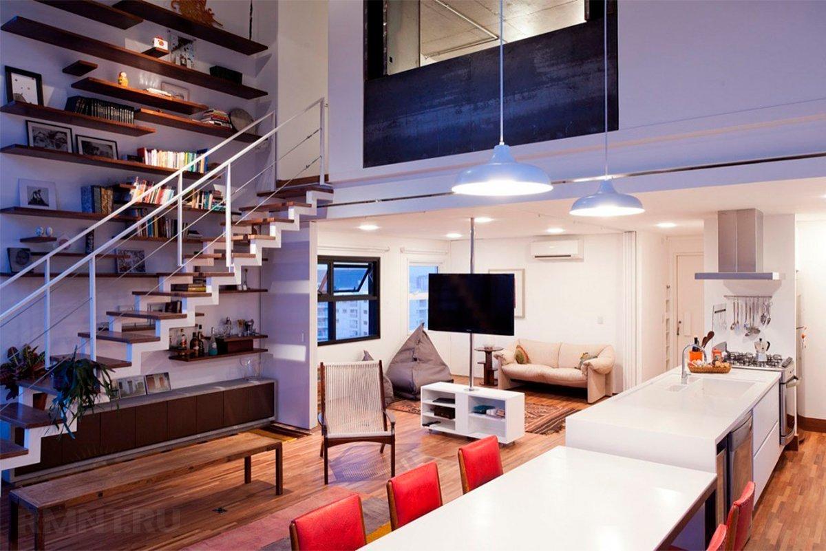 Двухэтажная квартира студия в москве фото более